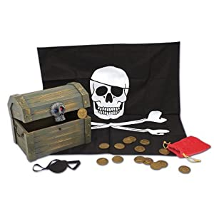 Click to buy Pirate Birthday Party Ideas: Melissa and Doug Treasure Chest from Amazon!