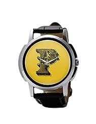 PosterGuy Alphabet P Typography Men's Wrist Watches