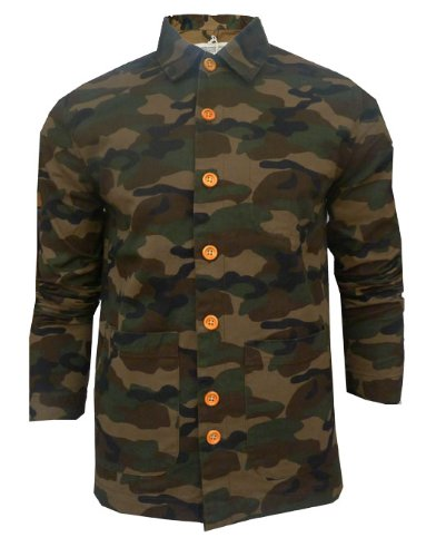 Mens Bellfield Camo Communion Military Style Worker Jacket (XX Large - 44