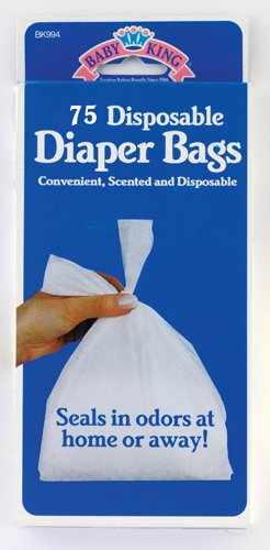 Disposable Diaper Bags Scented Tie-close Handles