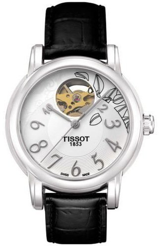 TISSOT T-CLASSIC T0502071603200 LADIES BLACK LEATHER STAINLESS STEEL CASE WATCH