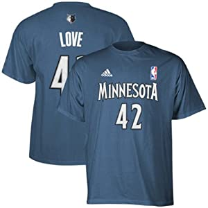 Adidas Minnesota Timberwolves Kevin Love Game Time T-Shirt by adidas