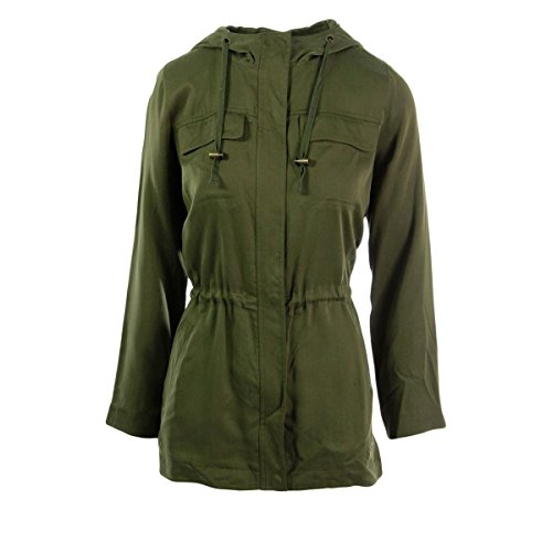 Eileen Fisher Womens Petites Tencel Hooded Anorak Jacket Green PP (Jackets Eileen Fisher compare prices)