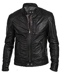 Zayn Leather Men's Leather Jacket (368_WLJ_Black_Large)