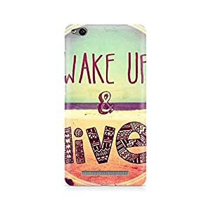 Ebby Wake Up And Live Premium Printed Case For Xiaomi Redmi 3s