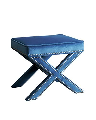Abbyson Living Arc Ottoman Bench, Blue