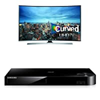 Samsung UN55JU7500 Curved 55-Inch TV with BD-H6500 Blu-ray Player by Samsung