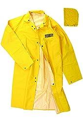 Full-Length Yellow Raincoats 100% PVC, Security ID