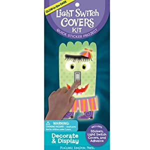 Peaceable Kingdom Press / Glow in the Dark Light Switch Covers Quick Sticker Kit