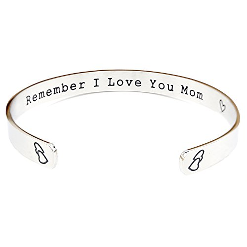 O.RIYA Remember I Love You Mom Mother's Day Gift / Gifts For Mom From Daughter Forever and Always (Grey)