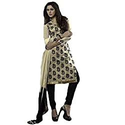 Typify Women's Chanderi Unstitched Dress Material (TYPIFY212_Multicolor_Free Size)