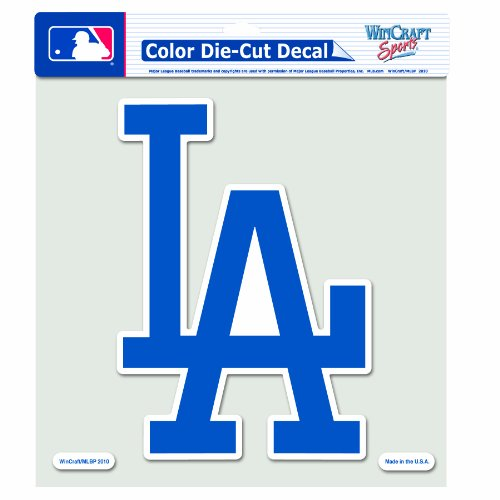 MLB Los Angeles Dodgers 8-by-8 Inch Diecut Colored Decal (La Car Decal compare prices)