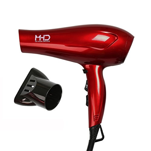 MHD Tourmaline Titanium Lightweight Blow Hair Dryer with 2 Speed and 3 Heat Settings, Red (Dc Blow Dryer compare prices)