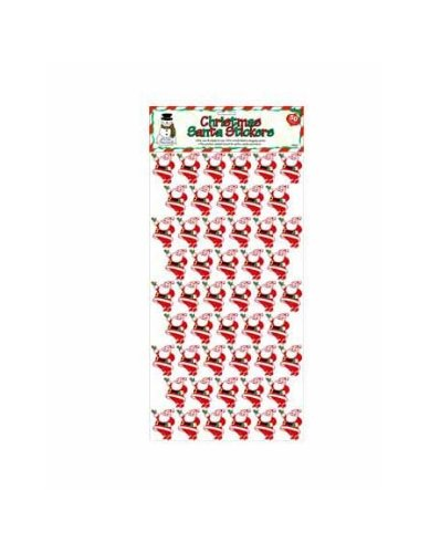 50 pk christmas santa stickers - Pack of 24