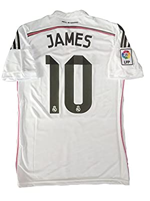 JAMES RODRIGUEZ #10 2014-15 REAL MADRID HOME SOCCER JERSEY (US SMALL ( L ))