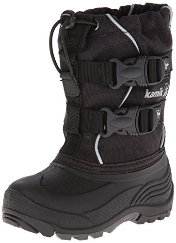 Kamik Footwear Kids Grandslam Insulated Snow Boot (Toddler/Little Kid/Big Kid),Black,8 M US Toddler
