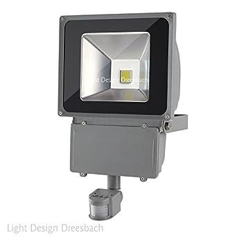 und Nachtsensor 20 Watt LED Baustrahler mit 10 Meter Bewegungsmelder Tag
