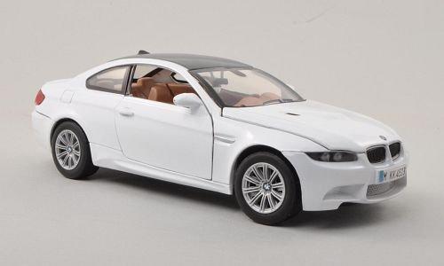 BMW-M3-E92M-weisscarbon-Modellauto-Fertigmodell-Motormax-124