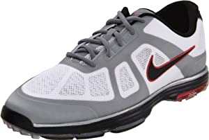 Nike Golf Men's Nike Lunar Ascend Golf Shoe,White/Black/Action Red/Granite,10 M US