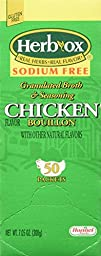 Hormel Herb Ox Chicken Bouillon Sodium Free 50 Packets