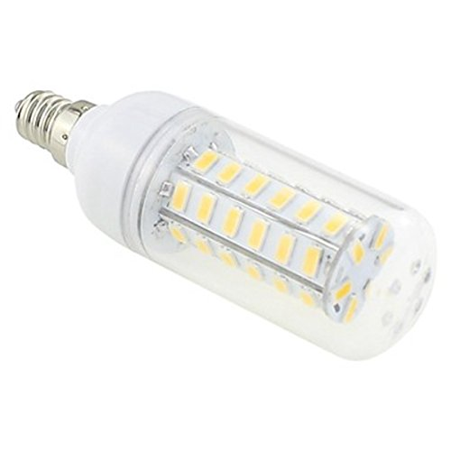 Generic E12 7W 48X5730 Smd 550~600Lm 3000~3500K Warm White Light Led Clear Cover Corn Bulb Ac 220V~240V