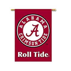 Buy NCAA Alabama Crimson Tide 2-Sided 28-by-40 inch House Banner With Pole Sleeve by BSI