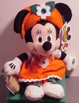 Disney Bean Bag Plush Minnie Mouse May Birthstone - 1