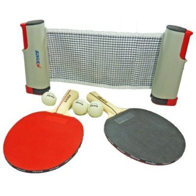 Fantastic Deal! Anywhere Table Tennis Ping Pong Deluxe Set - Paddles, Balls and Net + Travel Bag