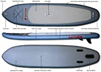 Saturn 11 ft Heavy-Duty Inflatable SUP Paddle Board. FREE SUP Paddle Included! from Saturn