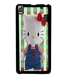 PrintVisa Metal Printed Hello Kitty Designer Back Case Cover for Lenovo K3 Note-D4946