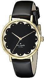 kate spade new york Women's 1YRU0227 Scallop Black Metro Watch