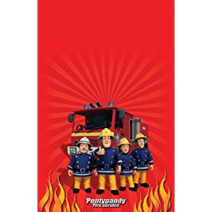 Amscan International Fireman Sam Plastic Tablecover