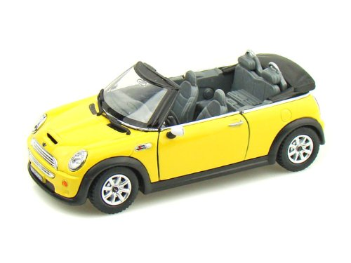 Kinsmart Mini Cooper S Convertible 1/28 Yellow