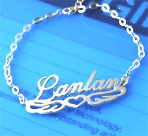Personalized 925 Silver Name Bracelet Anklet Any Language Lacing