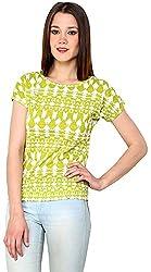 ShilpKala Women's Short Sleeve Top (skt3050s, Green, Small)