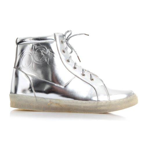 Metallic Hip Hop Shoe Silver 8