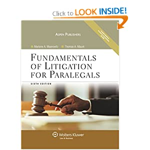 Fundamentals of Litigation for Paralegals book