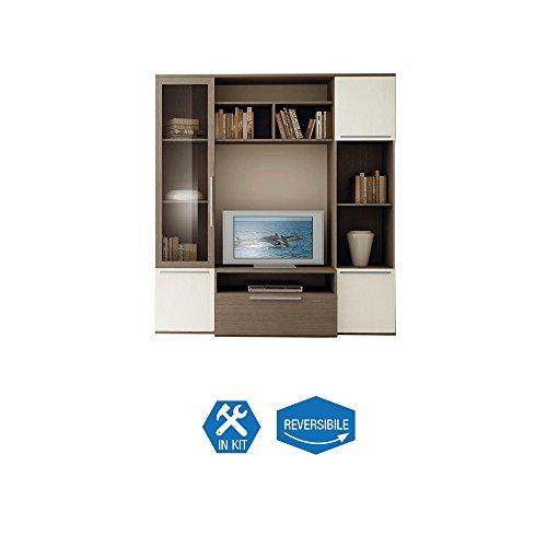 Set Soggiorno 2 colonne + Centrale libreria arredamento casa mobile 59.20.64