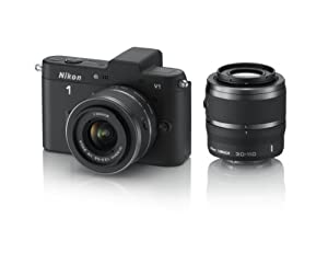 Nikon 1 V1 10.1 MP HD Digital Camera System with 10-30mm VR and 30-110mm VR 1 NIKKOR Lenses (Black)