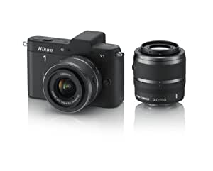 Nikon 1 V1 10.1 MP HD Digital Camera System with 10-30mm VR and 30-110mm VR 1 NIKKOR Lenses (Black) (OLD MODEL)