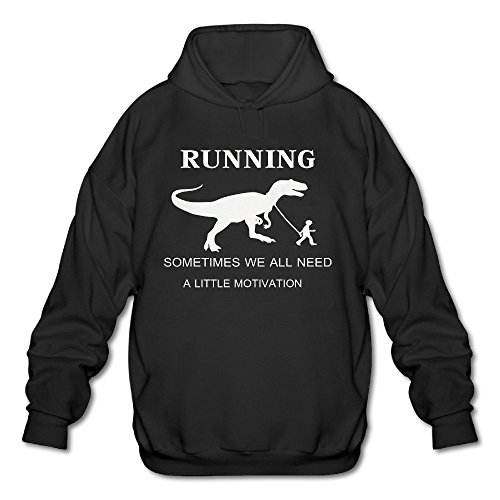Running Motivation Raptor Shirt Funny Dinosaur Tee To Motivate Men's Hoodies XXL