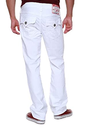 True Religion Straight Leg Jeans RICKY SPT STRAIGH, Color: White, Size: 33