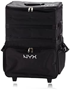 NYX Makeup Artist Train Case, 3 Tier Stackable Black/White