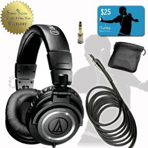 [Parallel import goods] Audio Technica Audio-Technica ATH-M50S Studio Headphone headphones Straight Wire and FREE $ 25 iTunes Card