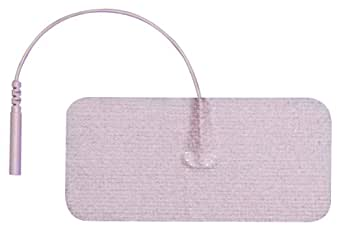 "3B Scientific W63208 Comfort-Stim Elite Tan Spunlace Electrodes, 3.75"" Length x 1.75"" Width"