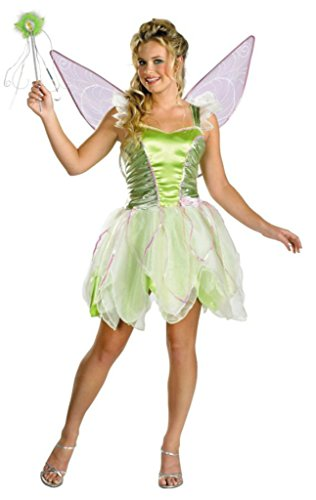 Disguise Womens Tinker Bell Deluxe Disney Fairy Fancy Halloween Costume