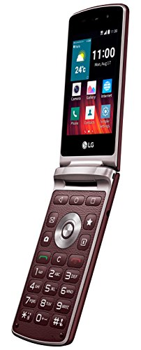 LG WineSmart klappbares Smartphone (8,2 cm (3,2 Zoll) LCD Display, 1,1 GHz Quad-Core-Prozessor, 3 Megapixel Kamera, Android 5.1) rot
