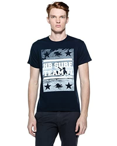Hot Buttered T-Shirt Manica Corta Surf Picture [Blu]