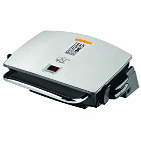 George Foreman GRP72CTTS G-Broil Grill Supreme Electric Nonstick Countertop Grill with Digital Timer, Silver