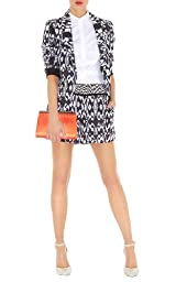 Minimal Print Color Block Shorts